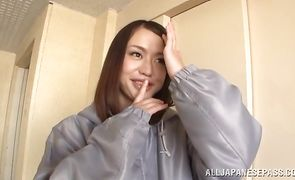 Raunchy busty japanese hottie Kaede Niiyama is cheating on with fellow she likes way more