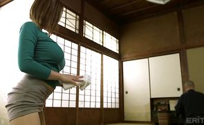 Striking girlfriend Ruri Saijou takes a rough doggy style pounding
