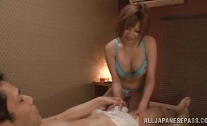 Appealing Reira Akane got her daily dose of steamy sex from fuckmate