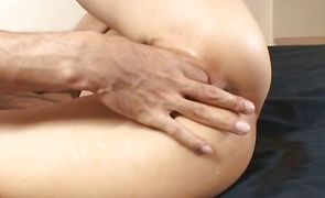 Wonderful Juri Matsuzaka is gently sucking her mate's dinky and getting ready for sex from the back