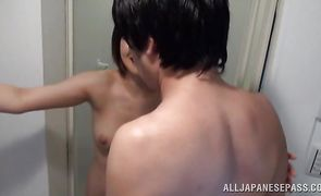 Astonishing japanese hottie enjoys an intense penetration from behind